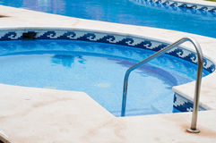 Piscina blu Immagine Stock