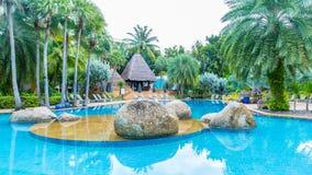Piscina bonita no recurso, Phuket, Tailândia Imagem de Stock