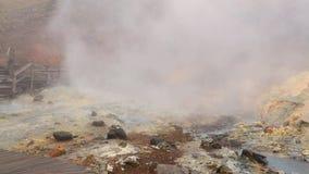 Piscina caliente volcánica del fango almacen de metraje de vídeo
