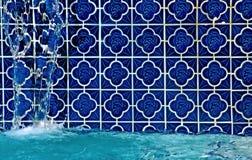 Piscina com fonte Imagem de Stock