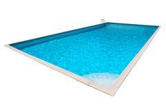 Piscina con acqua blu isolata Immagini Stock Libere da Diritti