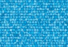 Piscina con los azulejos de mosaico Modelo inconsútil imagenes de archivo