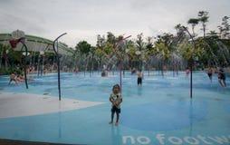 Piscina das crianças em Singapura Foto de Stock Royalty Free