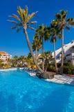 Piscina de agua en la isla de Tenerife Fotografía de archivo libre de regalías