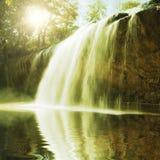 Piscina de la cascada Imagen de archivo libre de regalías
