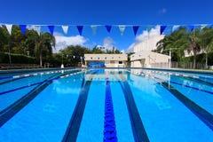 Piscina de la competición de la natación Imagen de archivo libre de regalías