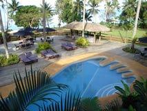 Piscina de la huella de Fiji Fotos de archivo