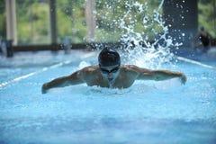 Piscina de la nadada Foto de archivo libre de regalías