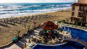 Piscina de la playa Foto de archivo libre de regalías