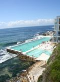 Piscina de la playa de Australia Bondi Imagenes de archivo