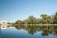 Piscina de reflejo y el Lincoln memorial Fotografía de archivo libre de regalías