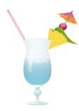 Piscina del cocktail - ananas e ciliegia Fotografia Stock Libera da Diritti
