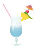 Piscina del coctel - piña y cereza Foto de archivo libre de regalías