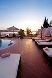 Piscina del hotel de lujo Imagen de archivo