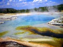 Piscina del zafiro, lavabo de la galleta, Yellowstone NP Fotos de archivo libres de regalías
