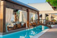 Piscina dell'albergo di lusso Fotografia Stock
