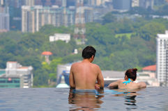 Piscina di Marina Bay Sands Immagine Stock