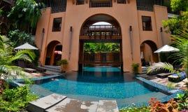 Piscina di Thaïland Koh Samui dell'hotel fotografia stock libera da diritti