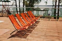 Piscina do hotel de luxo na frente do mar Imagem de Stock