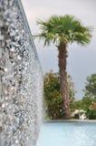 Piscina e cascate Fotografia Stock