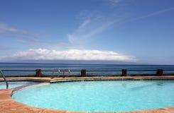 Piscina em Havaí fotos de stock royalty free