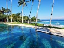 Piscina en Bali, Indonesia del infinito Imagen de archivo