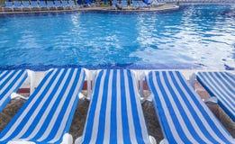 Piscina en Cancun, maya de Riviera, México Fotografía de archivo libre de regalías