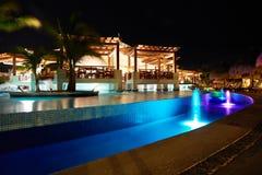 Piscina en el centro turístico del Caribe Foto de archivo