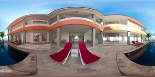 Piscina en el centro turístico vr360 almacen de video