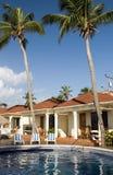 Piscina en el Ni grande de la isla de maíz de las cabañas del centro turístico Imagen de archivo