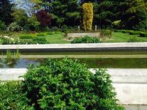 Piscina en el parque Imagenes de archivo