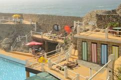 Piscina en la playa de Guincho foto de archivo libre de regalías
