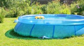 Piscina inflável Fotografia de Stock Royalty Free