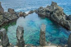 Piscina natural Charco De La Laja, no norte de Tenerife Fotografia de Stock Royalty Free