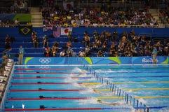 Piscina no estádio olímpico dos Aquatics fotografia de stock