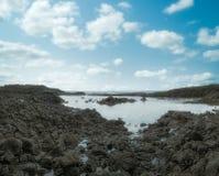 Piscina oceánica de la isla tropical de Sao Tome imagenes de archivo