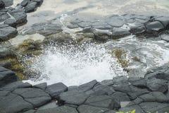 Piscina oceánica de la isla tropical de Sao Tome fotografía de archivo