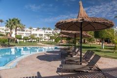 Piscina piacevole di lusso dell'hotel nell'Egitto Immagine Stock