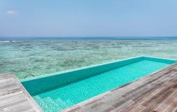 Piscina privada em Maldivas Imagem de Stock