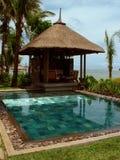 Piscina privada, Isla Mauricio Imagen de archivo