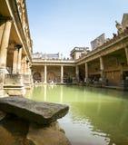 Piscina romana de las aguas termales de los baños Foto de archivo