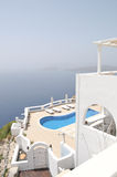 Piscina, Santorini Foto de Stock