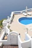 Piscina, Santorini Imagem de Stock