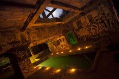 Piscina subterráneo de Grunge Fotografía de archivo
