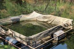 Piscina sul lago in Turchia, usata per la trota crescente fotografie stock