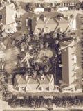 Piscina típica do apartamento da vista aérea em América Foto de Stock