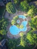 Piscina típica do apartamento da vista aérea em América Fotografia de Stock Royalty Free