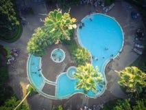Piscina típica do apartamento da vista aérea em América Fotografia de Stock