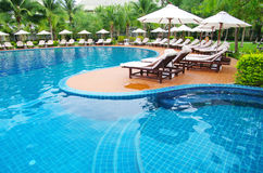 Piscina tropical Imagem de Stock Royalty Free