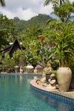 Piscina tropical bonita. Tailândia. foto de stock royalty free